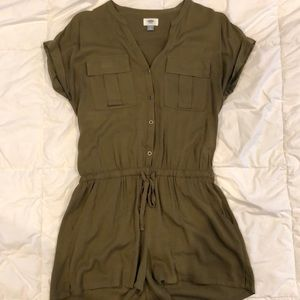 Shorts Romper with Short Sleeves